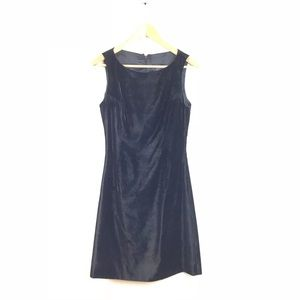 Versus Gianni Versace Dress Velvet Black VTG 42